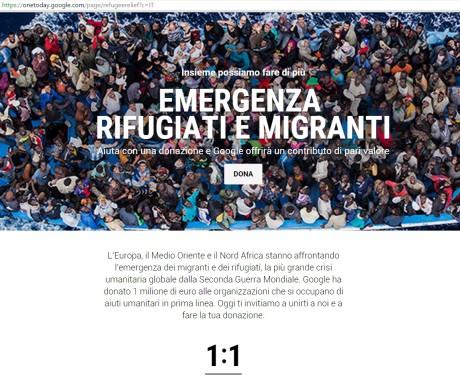 1+1 La campagna di Google per rifugiati e migranti